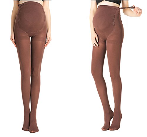 Cimary Pregnant Women Maternity Pantyhose Opaque Tights ,Coffee ,One Size