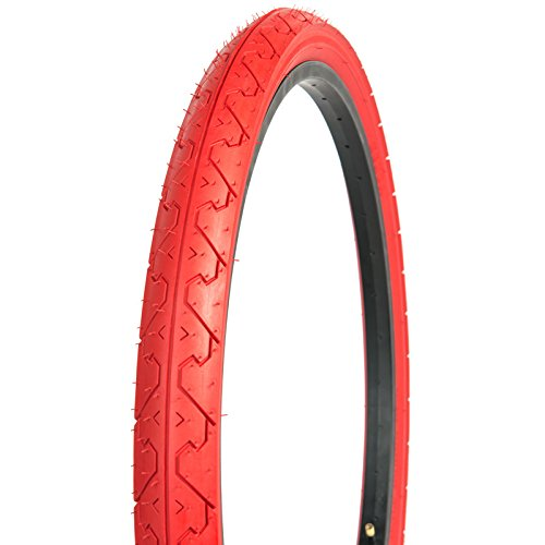Kenda Tires K838 Commuter/Cruiser/Hybrid Bicycle Tires, Red, 26-Inch x 1.95