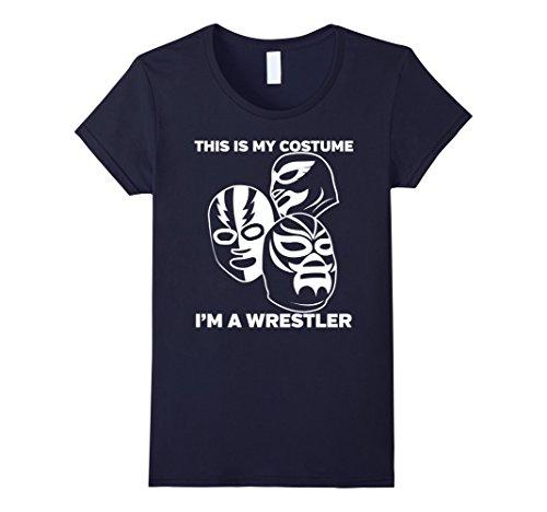 Womens Wrestler Halloween Costume Tshirt - Men Women Youth Sizes XL Navy - Female Wrestler Costumes