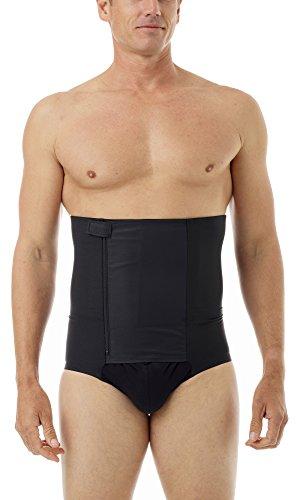 (Underworks Zip-N-Trim Support Brief Girdle for Men with 8-inch Powerband 3X Black)