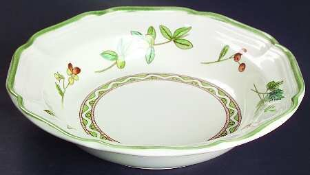 MIKASA Blossom SongSET of 2 Rimmed Soup Bowls~Discontinued 2003 ()