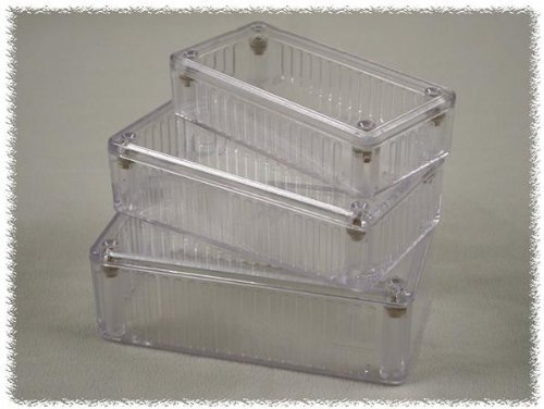 Enclosures, Boxes, & Cases 5.9 x 3.2 x 1.8 Clear by Hammond Manufacturing