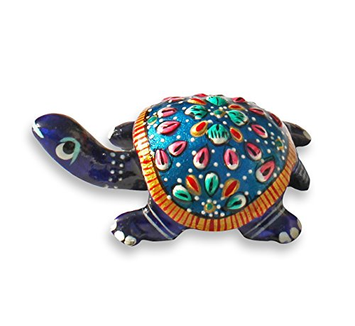 "BEST PRICE - SouvNear 3"" Lucky Sea Turtle - Unique Metal Work Tortoise Figurine - Good Luck Charm and Feng Shui Item Decorations / Centerpiece / Home & Table Decor"