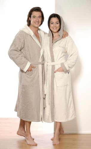 d300cb5c36 Hooded Bath Robe Dressing Gown House Coat Robe Velour Unisex for Men and  Women Different Sizes