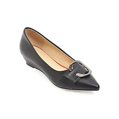 QIN Chaussures Peu Black amp;X Chaussures Bouche nbsp;Talon pour Femmes Profonde RwR0Xrq