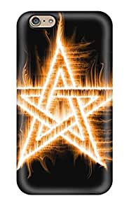 Iphone 6 Case Cover - Slim Fit Tpu Protector Shock Absorbent Case (amazing Blessed Flame Star Fire)