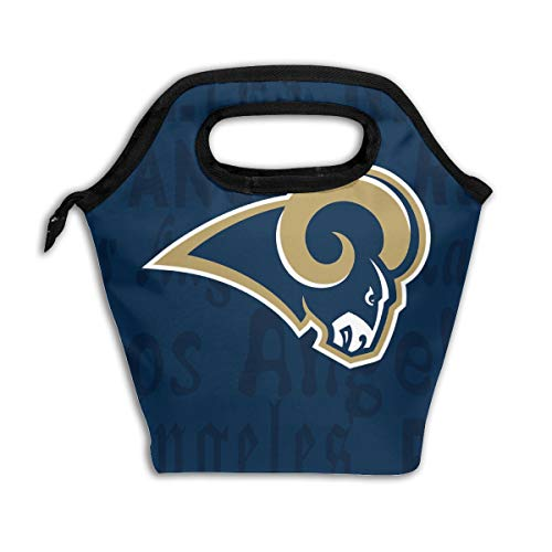 Gdcover Custom Los Angeles Rams Waterproof Lunch Bag Aluminum Film Insulated Picnic Ice Box with Zipper ()