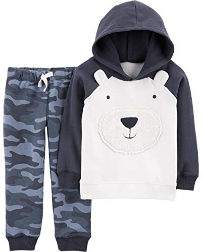 Carter's Baby and Toddler Boys' 2 Pc Top and Pant Sets (24 Months, Bear)