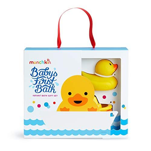 41PzfacmaSL - Munchkin Baby's First Bath, 3 Piece Bath Toy Gift Set, Bath Gift Set