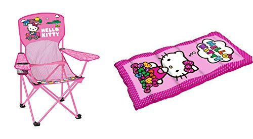 DT Hello Kitty Sleeping Bag and Chair 2 Piece Camping Set