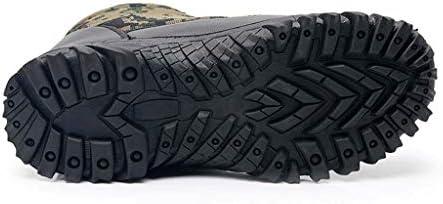 メンズ迷彩雪のブーツスリーブハイヘルププラスベルベット厚み付けウォームブーツノンスリップのウェアラブルラバーソール (色 : 黒, サイズ : 25 CM)