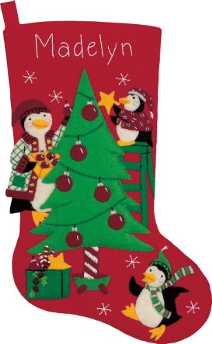 Dimensions Needlecrafts Stocking, Peppermint Penguins