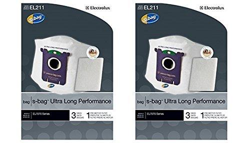Genuine Electrolux Ultra Long Performance s-bag EL211 - (2 Pack = 6 bags, 2 premotor filters) by Genuine Electrolux