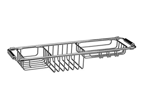 Bathtub Caddy Tray with Extending Sides Tub Tray Holder Rack Bath Storage, Brass (Chrome-Gold) by W-Luxury