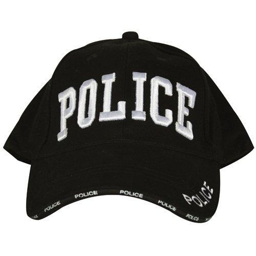 Fox Outdoor 78-70 Embroidered Ball Cap, Black - Police