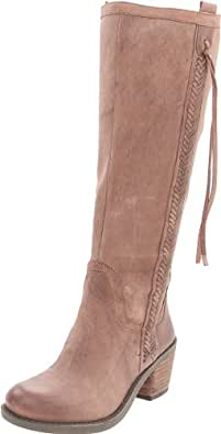 Nine West Women's Thora Riding Boot,Taupe Leather,5 M US