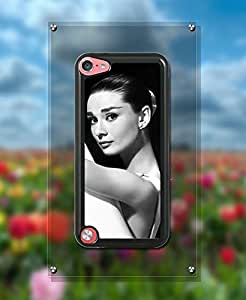 Actor Audrey Hepburn IPod Touch 5th Funda Case {Hard Plastic} +{Ultra Thin} Cover Customized Snap On Plastic Back for IPod Touch 5th