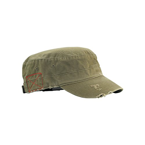 Cotton Army Cap Olive - 6