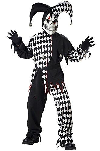 California Costumes Childrens Toys Evil Jester, (Evil Clown Child Costume)