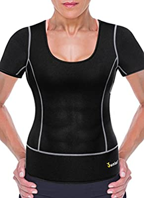 Women Sport Neoprene Sauna Weight Loss Athletic Short Shirts Yoga Clothes Fitness Gym Wear Running Workout Top