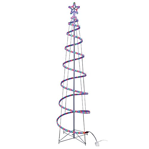 Outdoor Rope Light Spiral Christmas Tree in US - 6