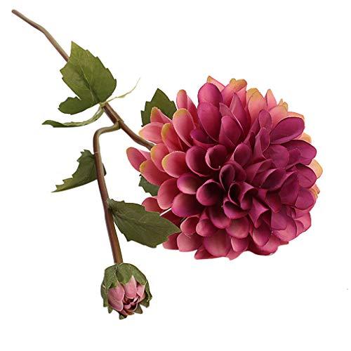 Elevin(TM) Single Artificial Flower Dahlia Bridal Wedding Bouquet Home Furnishing Decor (F) ()