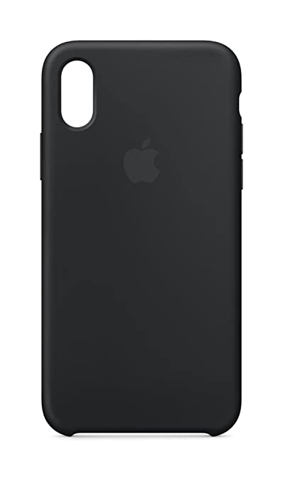 meet aa1c4 1738d Apple Silicone Case (for iPhone X) - Black