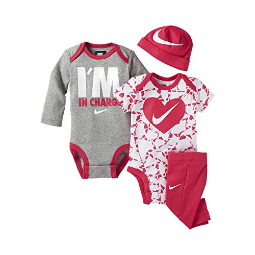Nike Infant 2 Bodysuits, Beanie And Leggings 4 Piece Gift Set