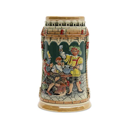 Beer Stein German Castle Festive Engraved Beer Mug by E.H.G. | .60 Liter