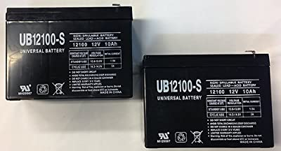 12V 10Ah NEW BATTERY FOR EZIP SCOOTER 4.0, 4.5, 400, 450, 500 - 2 Pack