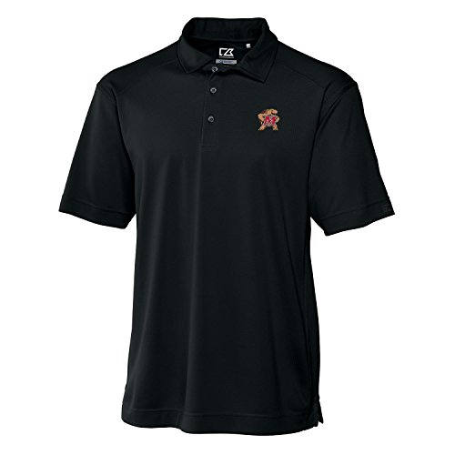 Maryland Golf Shirts (NCAA Maryland Terrapins Men's CB DryTec Genre Polo Tee, Black, Large)