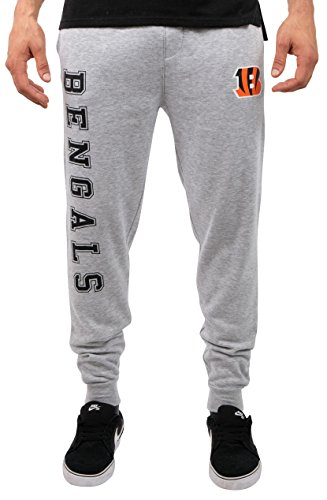 NFL Men's Cincinnati Bengals Jogger Pants Active Basic Fleece Sweatpants,   Heather Gray ,Medium