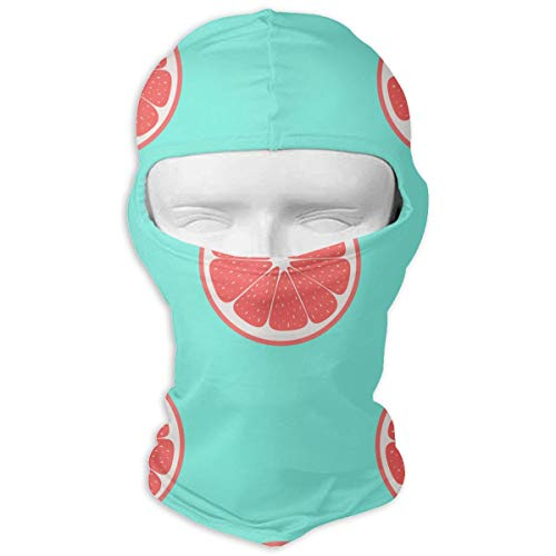 (LNUO-2 Wind-Resistant Balaclava, Grapefruits Patio for Outdoor Sports White)