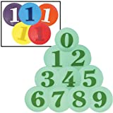 Numbered Poly Spots Set (SET)