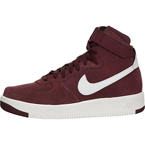 Shoes Men Af1 (Nike AF1 Air Force One UltraForce Hi Basketball Shoe, Dark Team Red/White, 12)