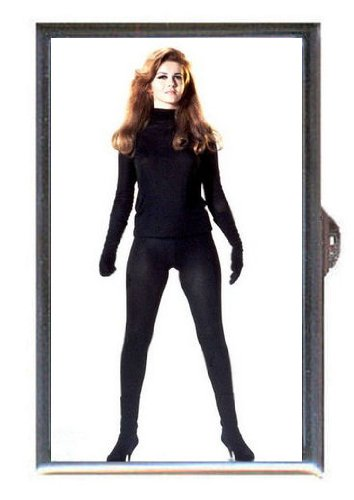 Ann-Margret 1960s Tight Black Outfit in Heels Guitar Pick or Pill Box USA Made