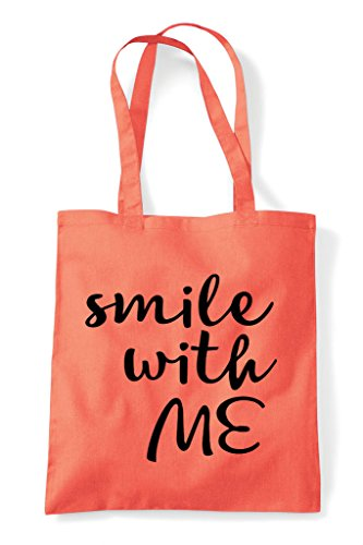 Shopper With Smile Statement Me Coral Tote Bag Positive 8R1Rdq