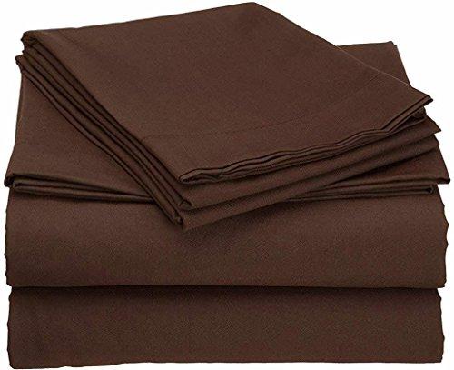Waletone Linen 6 PC Bed Sheet Set 400 TC 100% Egyptian Cotton Super Soft Long Staple, Italian Finish Fitted Sheet fits Upto 21
