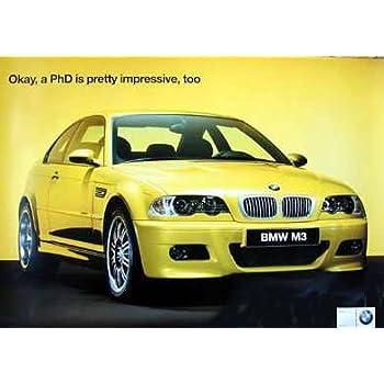 Amazon.com: 2001 BMW M3 E46 Factory Poster (Rare) Car Poster ...