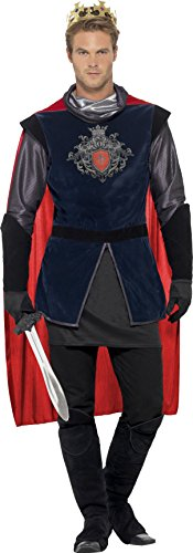 [Smiffy's Men's King Arthur Deluxe Costume, Multi, Large] (King Toddler Costume)