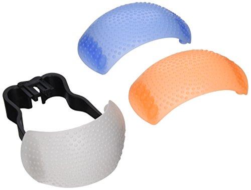 - Neewer 88015585 Hot-Shoe Soft Pop-Up Flash Diffuser for Digital SLR Cameras (White, Blue, Orange)