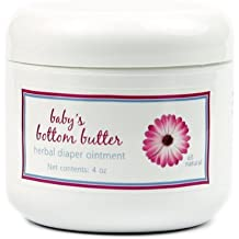 Baby's Bottom Butter by MoonDance Soaps - All Natural Diaper Rash Ointment with Shea Butter and Essential Oils, 8 Ounce