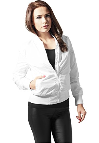 URBAN CLASSICS - Ladies Light Bomber Jacket (white), Gr. L