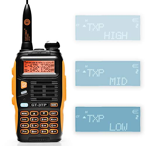 Baofeng Pofung GT-3TP Mark-III Two-Way Radio Transceiver, Dual Band 136-174/400-520 MHz Power Two-Way Radio (Ham Radio Motorola)