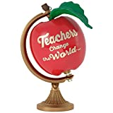 Hallmark Keepsake 2017 Teachers Change the World Apple Globe Christmas Ornament