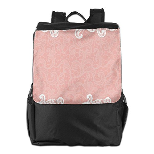 Newfood Ss Lace Design On Soft Colored Background Ornamental Pattern Wedding Inspired Outdoor Travel Backpack Bag For Men And Women by Newfood Ss