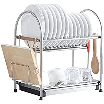 Amazon Com Nex Dish Rack Stainless Steel Two Tier