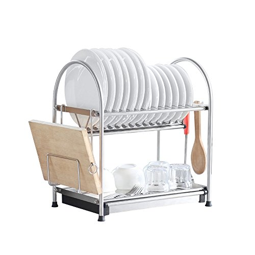 NEX Dish Rack Stainless Steel Two Tier Draining Rack Rustless Storage Rack Lacquer Kitchen Supplies Drying - And High Rack Dry Dish