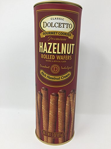 Classic Dolcetto Gourmet Hazelnut Rolled Wafers