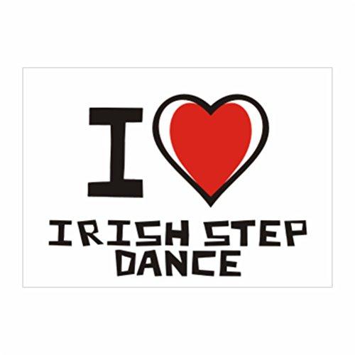 Teeburon I love Irish Step Dance Pack of 4 Stickers